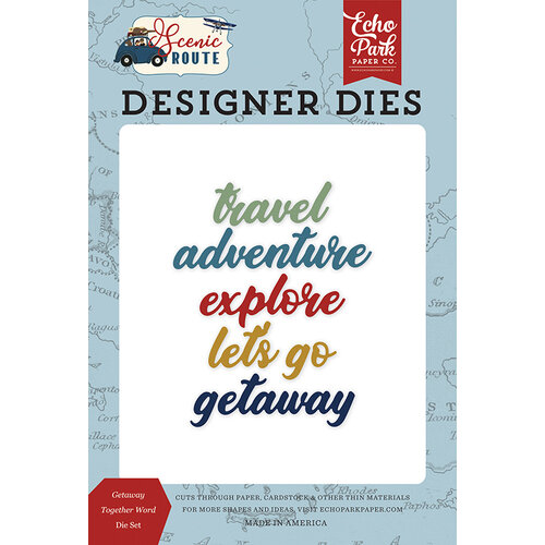 Echo Park - Scenic Route Collection - Designer Dies - Getaway Together Word