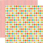 Echo Park - Sweet Summertime Collection - 12 x 12 Double Sided Paper - Summer Argyle