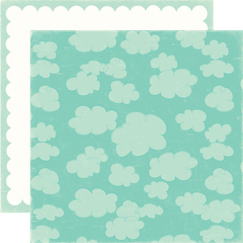 Echo Park - Sweet Summertime Collection - 12 x 12 Double Sided Paper - Blue Sky