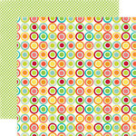 Echo Park - Sweet Summertime Collection - 12 x 12 Double Sided Paper - Citrus Circle