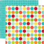 Echo Park - Sweet Summertime Collection - 12 x 12 Double Sided Paper - Happy Spots