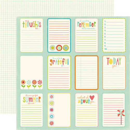 Echo Park - Sweet Summertime Collection - 12 x 12 Double Sided Paper - Journal Paper Card