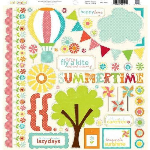 Echo Park - Sweet Summertime Collection - 12 x 12 Cardstock Stickers - Elements