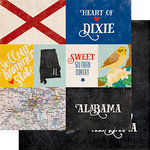 Echo Park - Stateside Collection - 12 x 12 Double Sided Paper - Alabama