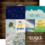 Echo Park - Stateside Collection - 12 x 12 Double Sided Paper - Alaska