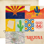 Echo Park - Stateside Collection - 12 x 12 Double Sided Paper - Arizona