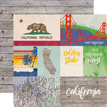 Echo Park - Stateside Collection - 12 x 12 Double Sided Paper - California