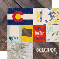 Echo Park - Stateside Collection - 12 x 12 Double Sided Paper - Colorado
