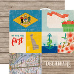 Echo Park - Stateside Collection - 12 x 12 Double Sided Paper - Delaware