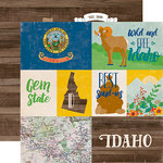 Echo Park - Stateside Collection - 12 x 12 Double Sided Paper - Idaho