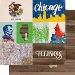 Echo Park - Stateside Collection - 12 x 12 Double Sided Paper - Illinois