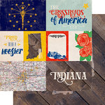 Echo Park - Stateside Collection - 12 x 12 Double Sided Paper - Indiana