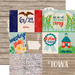 Echo Park - Stateside Collection - 12 x 12 Double Sided Paper - Iowa