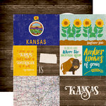 Echo Park - Stateside Collection - 12 x 12 Double Sided Paper - Kansas