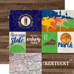 Echo Park - Stateside Collection - 12 x 12 Double Sided Paper - Kentucky