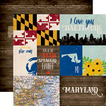Echo Park - Stateside Collection - 12 x 12 Double Sided Paper - Maryland