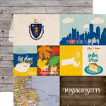 Echo Park - Stateside Collection - 12 x 12 Double Sided Paper - Massachusetts