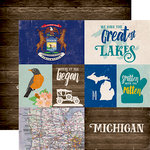 Echo Park - Stateside Collection - 12 x 12 Double Sided Paper - Michigan