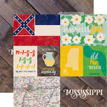 Echo Park - Stateside Collection - 12 x 12 Double Sided Paper - Mississippi