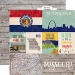 Echo Park - Stateside Collection - 12 x 12 Double Sided Paper - Missouri