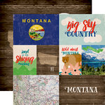 Echo Park - Stateside Collection - 12 x 12 Double Sided Paper - Montana