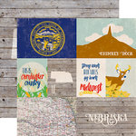 Echo Park - Stateside Collection - 12 x 12 Double Sided Paper - Nebraska