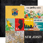 Echo Park - Stateside Collection - 12 x 12 Double Sided Paper - New Jersey