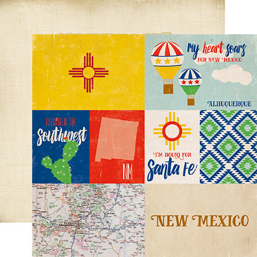 Echo Park - Stateside Collection - 12 x 12 Double Sided Paper - New Mexico