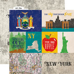 Echo Park - Stateside Collection - 12 x 12 Double Sided Paper - New York