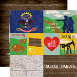 Echo Park - Stateside Collection - 12 x 12 Double Sided Paper - North Dakota