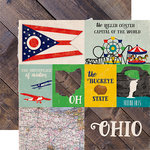 Echo Park - Stateside Collection - 12 x 12 Double Sided Paper - Ohio