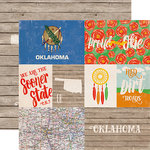 Echo Park - Stateside Collection - 12 x 12 Double Sided Paper - Oklahoma