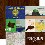 Echo Park - Stateside Collection - 12 x 12 Double Sided Paper - Oregon