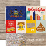 Echo Park - Stateside Collection - 12 x 12 Double Sided Paper - Pennsylvania