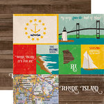 Echo Park - Stateside Collection - 12 x 12 Double Sided Paper - Rhode Island