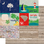 Echo Park - Stateside Collection - 12 x 12 Double Sided Paper - South Carolina