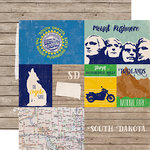 Echo Park - Stateside Collection - 12 x 12 Double Sided Paper - South Dakota