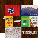 Echo Park - Stateside Collection - 12 x 12 Double Sided Paper - Tennessee