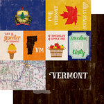 Echo Park - Stateside Collection - 12 x 12 Double Sided Paper - Vermont