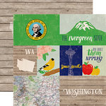 Echo Park - Stateside Collection - 12 x 12 Double Sided Paper - Washington