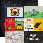 Echo Park - Stateside Collection - 12 x 12 Double Sided Paper - West Virginia