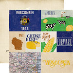 Echo Park - Stateside Collection - 12 x 12 Double Sided Paper - Wisconsin