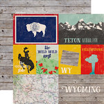 Echo Park - Stateside Collection - 12 x 12 Double Sided Paper - Wyoming