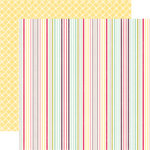 Echo Park - Springtime Collection - 12 x 12 Double Sided Paper - Delightful Stripe, CLEARANCE