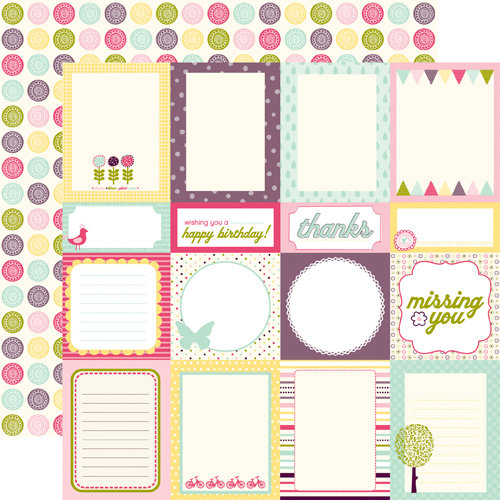 Echo Park - Springtime Collection - 12 x 12 Double Sided Paper - Journaling Cards, CLEARANCE