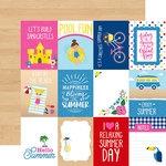 Echo Park - I Love Summer Collection - 12 x 12 Double Sided Paper - 3 x 4 Journaling Cards