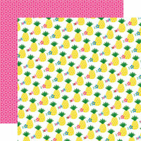 Echo Park - I Love Summer Collection - 12 x 12 Double Sided Paper - Pineapple Paradise