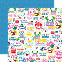 Echo Park - I Love Summer Collection - 12 x 12 Double Sided Paper - The Best Of Summer