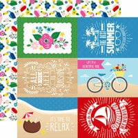 Echo Park - I Love Summer Collection - 12 x 12 Double Sided Paper - 4 x 6 Journaling Cards
