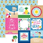 Echo Park - I Love Summer Collection - 12 x 12 Double Sided Paper - 4 x 4 Journaling Cards